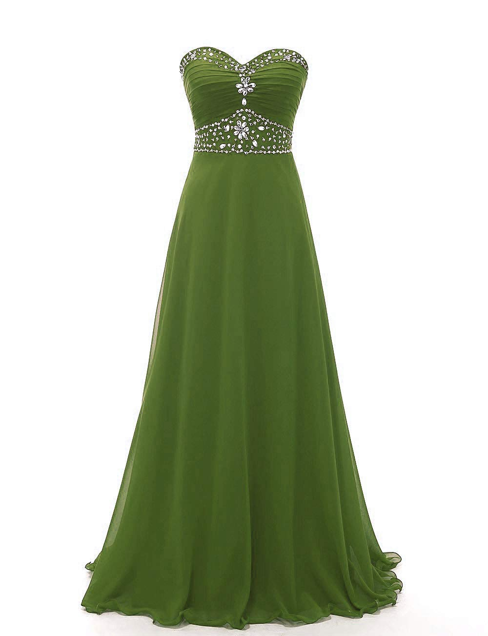 Country Bridesmaid Dresses Western Wedding Guest Dress Women S Floor Length Prom Olive Us8