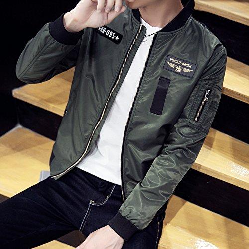Chaqueta de los hombres chaqueta uniforme el uniforme de los hombres, varón, tide marca chaqueta casual, ejército serie Verde L