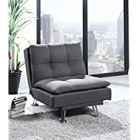 Best Quality Furniture Dark Gray Futon, Chair