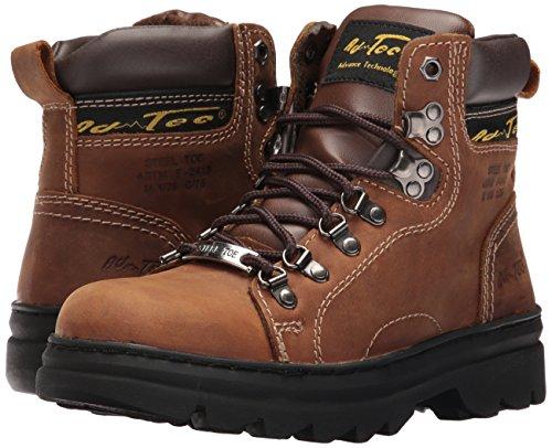 Adtec Men's 1977 6'' Steel Toe Hiker Work Boot, Brown, 8 W US by Adtec (Image #6)