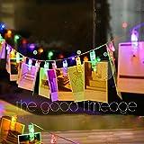 Guirlande lumineuse pinces a linge led blanc - Guirlande porte photo avec pinces linge ...
