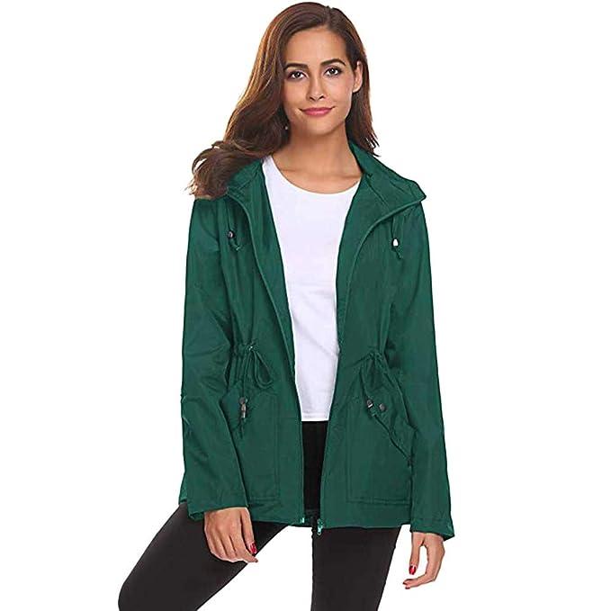 cf62e41dfed7b2 ☺Leichte Regenjacke mit Kapuze Sweatshirts Hoodies Jacke Damen Draußen  Wasserdichte Mantel Regen Oberteil Pullover Premium Sport Kleidung  Kapuzenjacke ...