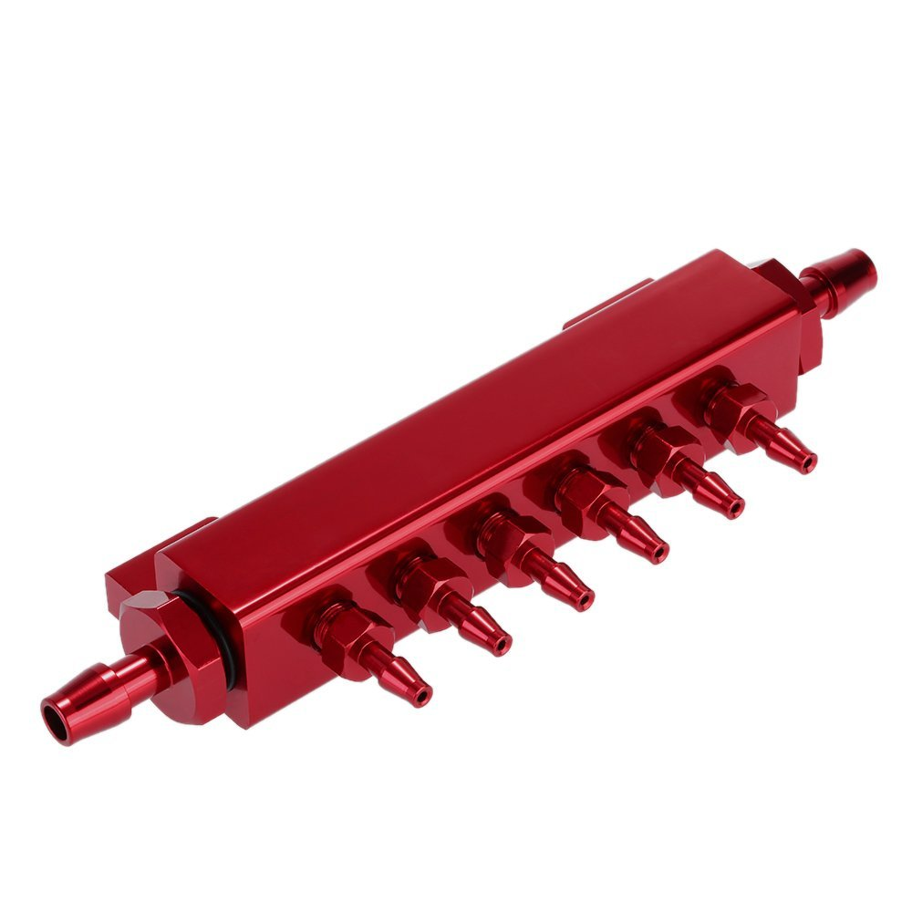 Docooler® Aluminum Alloy Vacuum Manifold Kits 6 Port 1/8 NPT Turbo Wastegate Boost Block Intake Manifold Universal Modification Accessory