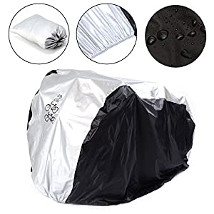 2 Bikes Cover, SAVFY 180T Heavy Duty Outdoor Waterproof Bicycle Cover - Sutis Mountain Bike, Road Bike by SAVFY