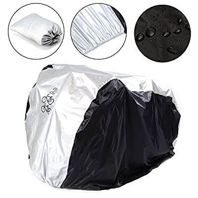 SAVFY Double 2 Bike Cover 180T Heavy Duty - Bicycle Cover Waterproof Outdoor - Suits Mountain Road, Electric and Cruiser Bikes