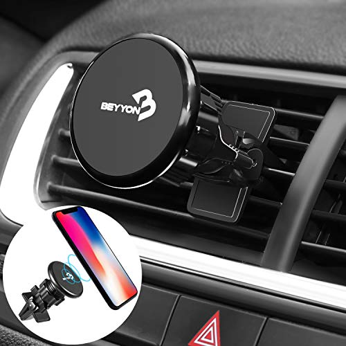 Air Vent Phone Holder, BEYYON Universal Magnetic Phone Car Mount Phone Holder Car Twist-Lock Air Vent Compatible iPhone X 8 Plus 7 Plus 6 Plus 6S Galaxy S8 S7 S6 Edge, Note 5 4