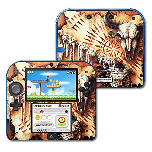 Cherokee Brown Leather - MightySkins Skin Compatible with Nintendo 2DS - Plains Medicine | Protective, Durable, and Unique Vinyl Decal wrap Cover | Easy to Apply, Remove, and Change Styles | Made in The USA