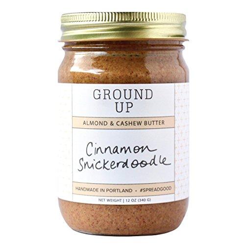 - GROUND UP PDX Nut Butter Almond Cashew Cinnamon Snickerdoodle, 12 OZ