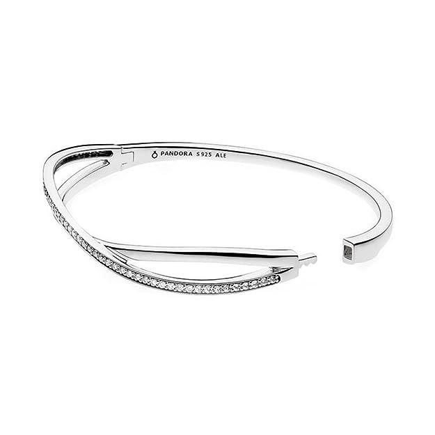 cee1407cc Amazon.com: Pandora Entwined Bracelet, Clear CZ 590533CZ-1, 16 Centimeter  6.3 Inch: Jewelry