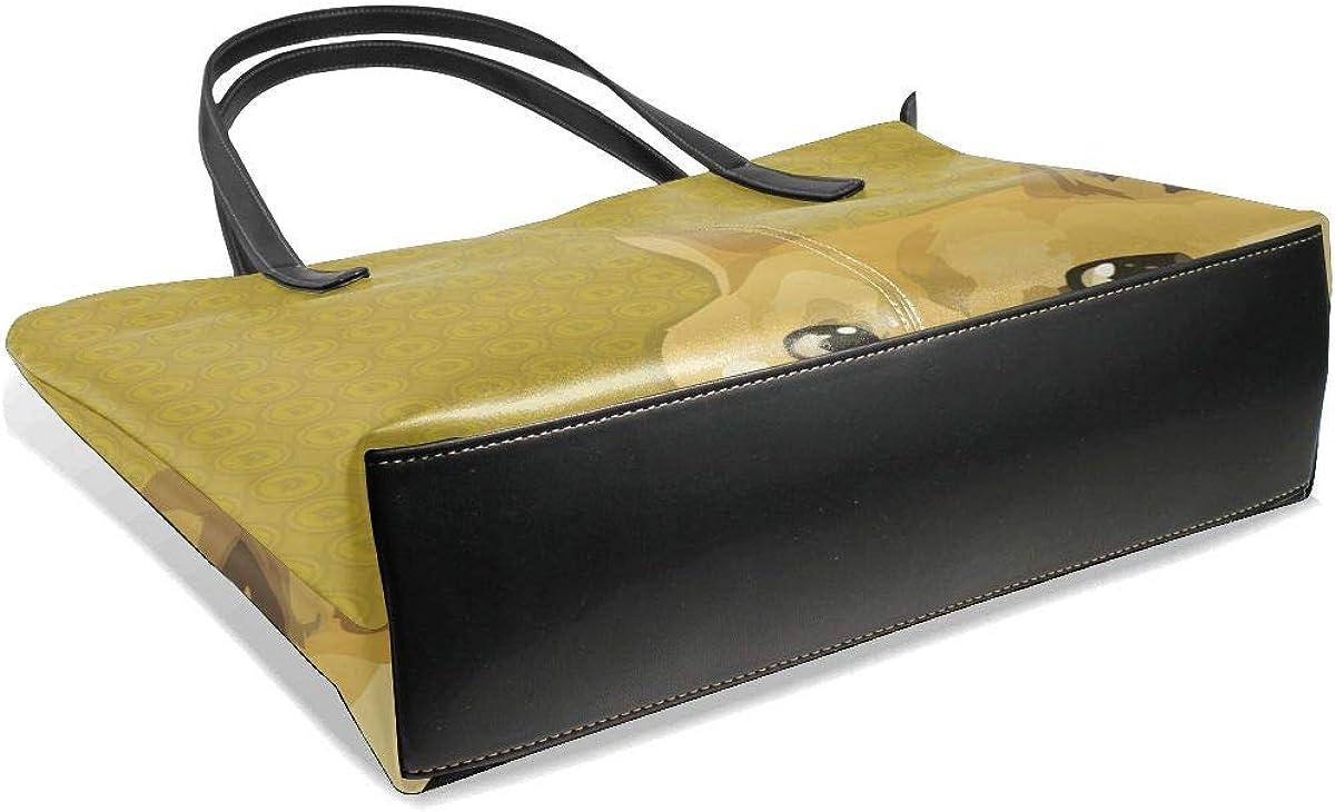 Culora Shiba Inu Womens Vintage Fresh College Style Office Business Style Small Handbag.