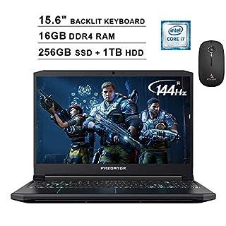 2020 Acer Predator Helios 300 15.6 Inch 144Hz FHD Gaming Laptop (9th Gen 6-Core i7-9750H, 16GB RAM, 256GB PCIe SSD + 1TB HDD, Backlit Keyboard, GTX 1660 Ti, Win 10) + NexiGo Wireless Mouse Bundle