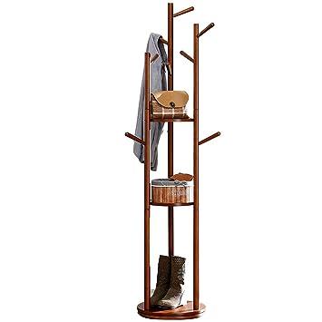 HONGNA Perchero de Madera Percha Piso Dormitorio Ropa Moderna estantería Creativa Percha,Brown