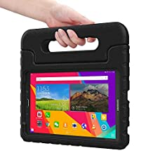 Samsung Galaxy Tab E 9.6 kids case, COOPER DYNAMO Rugged Heavy Duty Children's Boys Girls Bumper Drop Proof Protective Carry Case Cover + Handle, Stand & Screen Protector for SM-T560 T561 Black
