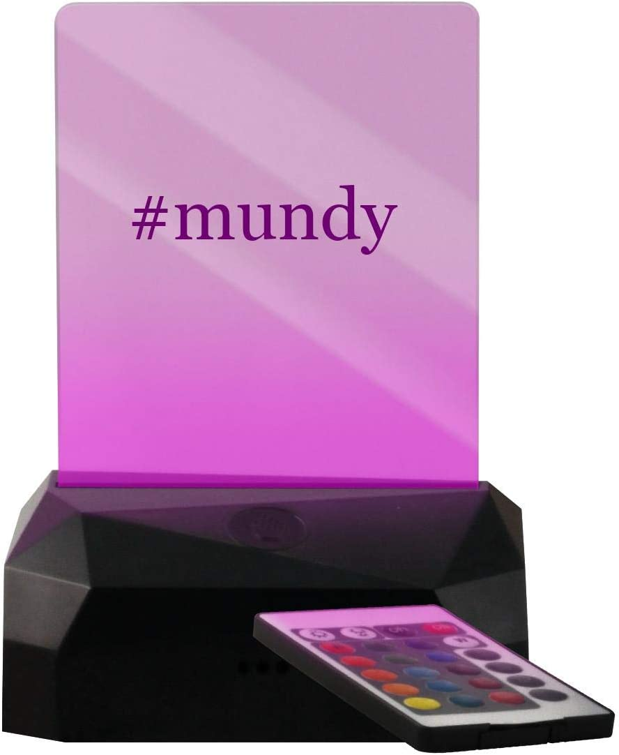 #Mundy - Hashtag LED USB Rechargeable Edge Lit Sign