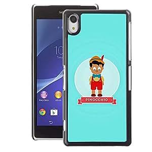 A-type Arte & diseño plástico duro Fundas Cover Cubre Hard Case Cover para Sony Xperia Z2 (Character Fairytale Kids Children)