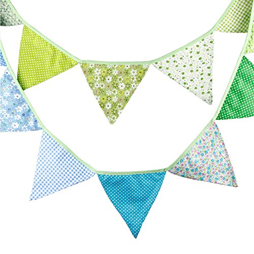 Yiuswoy Multicolor Triangle Bunting Pennant Pennant Wall Dec