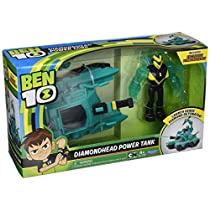 Ben 10 Vehículo Alien con Figura, Diamondhead Power Tank, Multicolor (Giochi BEN20001)