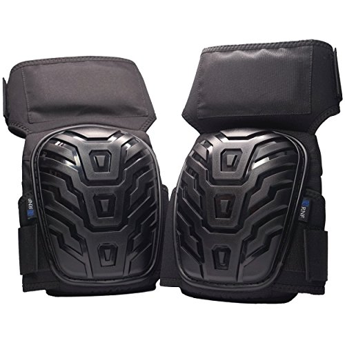 Professional Knee Pads for Work - Velcro Strap Design Prevents Slipping - Comfy Gel Core Prevents Knee Pain + FREE Bonus Extension Straps - By RNF Supply (Tile Roofing Plastic)