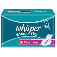 Whisper Maxi Fit Sanitary Pads Large Wings - 15 Piece Pack