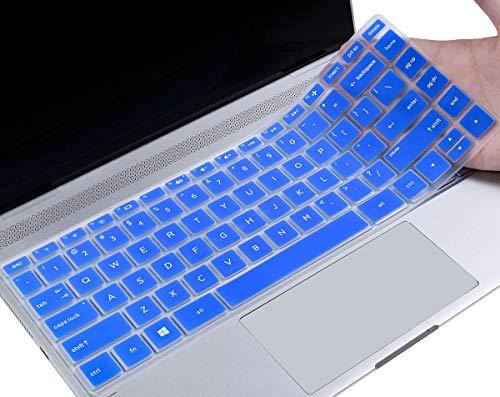 "CaseBuy HP Pavilion x360 Keyboard Cover 14 inch Compatible 2020-2018 HP Pavilion 14"" Laptop/HP Pavilion x360 14M-BA 14M-CD 14M-DH 14-BA 14-BF 14-cm 14-CF 14-DF 14-DK 14-DS 14-DQ Series, Blue"