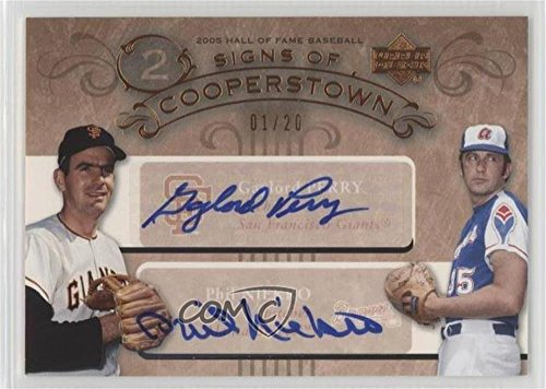 Gaylord Perry; Phil Niekro #1/20 (Baseball Card) 2005 Upper Deck Hall of Fame - Signs of Cooperstown Dual - Autographs [Autographed] ()