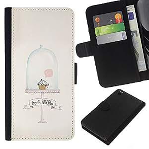 KLONGSHOP // Tirón de la caja Cartera de cuero con ranuras para tarjetas - Minimalista Magdalena Magdalena linda Limpio - HTC DESIRE 816 //