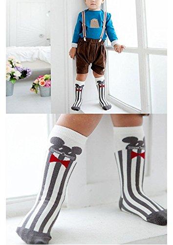 7b7057ad6d82e 6 Pairs Unisex Animal Baby Girls Boys Socks Knee High Stockings Anti Skid  Socks (S