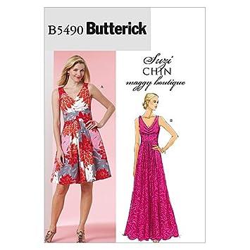 Butterick Schnittmuster 5490 FF Damen Kleid,Dress,Vestido in 2 ...