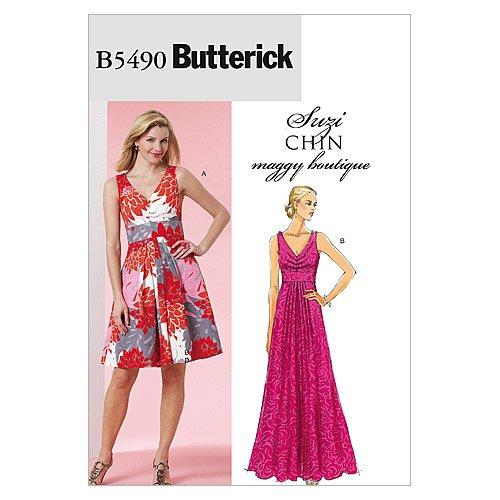 BUTTERICK PATTERNS B5490 Misses' Dress, Size BB (8-10-12-14)