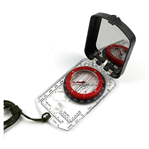 Funtalker Map Compass with Adjustable Declination Scouts Camping Hiking Orienteering Camping