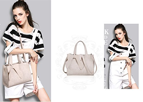Purses Bow Shoulder Women��s Leisure Bags and body Handle Tie Handbags Cross Tote Top Beige 1TwT5IqSx