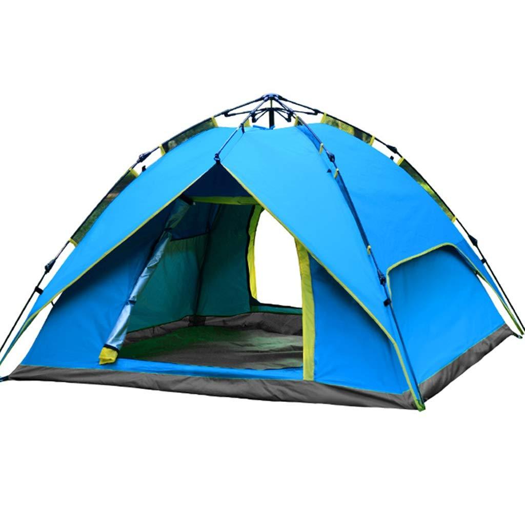 YaNanHome Zelt im Freien Zelt Automatische hydraulische Geschwindigkeit öffnen Zelt 2-3 Personen stark regensicher Zelt Wildes Camping Zelt (Farbe : Blau, Größe : 185  185  125cm)