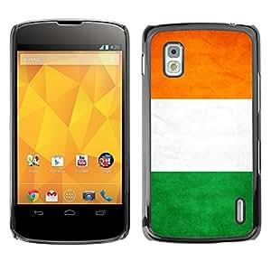 Shell-Star ( National Flag Series-Ivory Coast ) Snap On Hard Protective Case For LG Google NEXUS 4 / Mako / E960