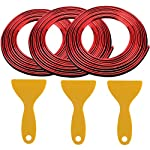 15 Meters Flexible Car Red Trim Gap Filler Universal Car Trim Interior Strips Line with 3 Pcs Installing Tool for Car…