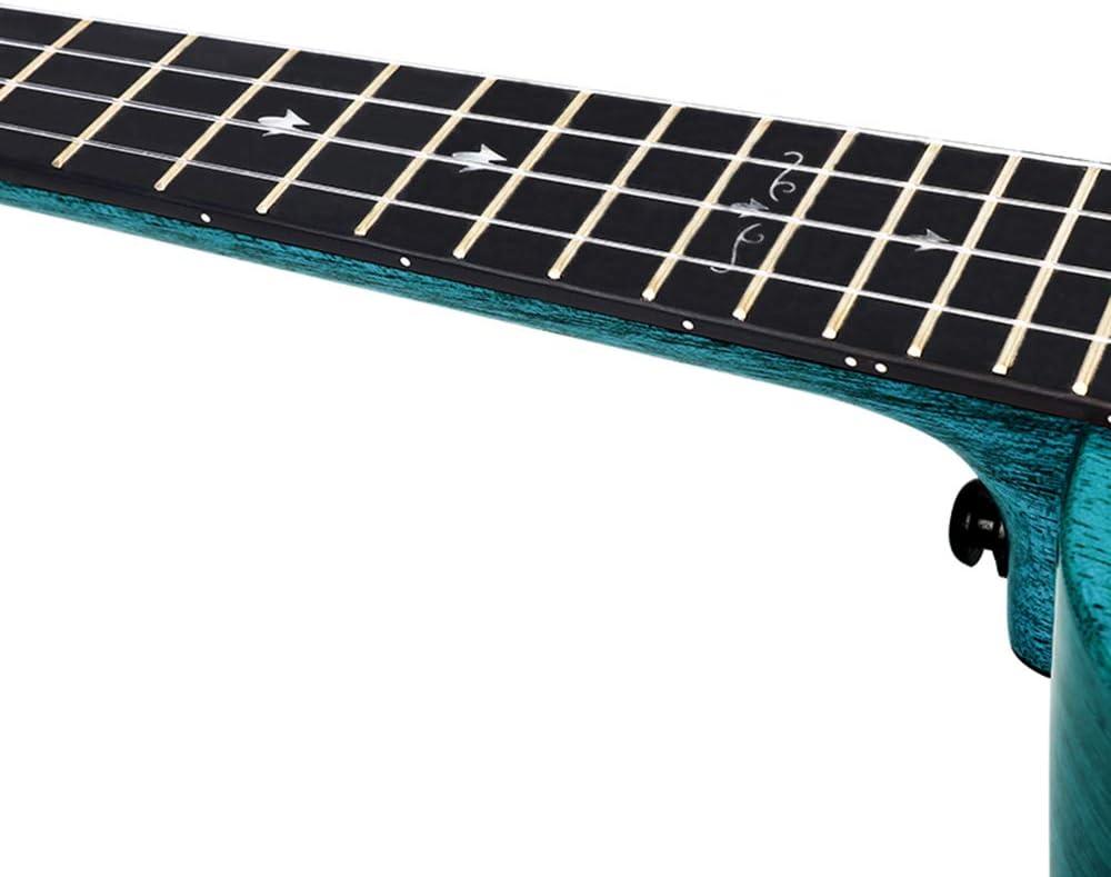 """Enya ukelele tenor EUT-MAD BU 26"""" caoba sólido color azul ukulele ..."""