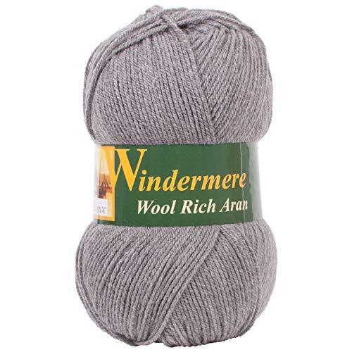 Windermere Wool Knitting Crochet /& Sewing Rich Aran Yarn 400g Craft Wool Ball