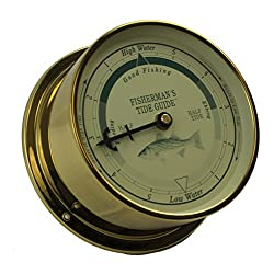 6 Brass Fishing Tide Guide Clock