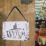 Garneck 2pcs Halloween Hanging Signs,Wall Plaques