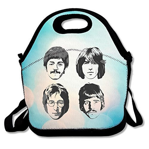 Ono Yoko Halloween Costumes (Bakeiy The Beatles Family Lunch Tote Bag Lunch Box Neoprene Tote For Kids And Adults For Travel And Picnic)