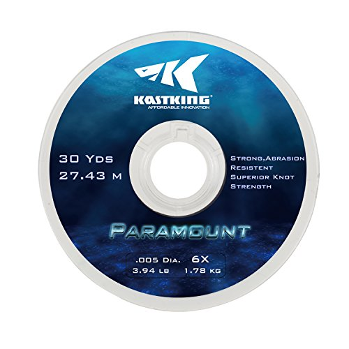 KastKing Paramount Tippet Spools Fly Fishing Line - Nylon Multiplex Monofilament -Abrasion Resistent for Freshwater or Saltwater - Wide Assortment, Size 2X to 6X Available - 3 Spool / 5 Spool