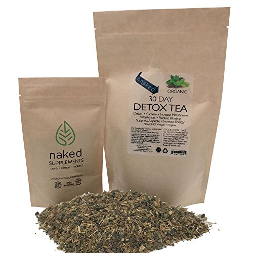 Organic Detox Tea-Cleanse, Detox, Increase Metabolism, Weight Loss, Reduce Bloating, Suppress Appetite, Increase Energy