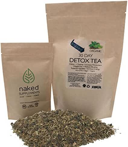 Organic Detox Tea-Cleanse, Detox, Increase Metabolism, Weight Loss, Reduce Bloating, Suppress Appetite, Increase Energy (10 Day Detox)