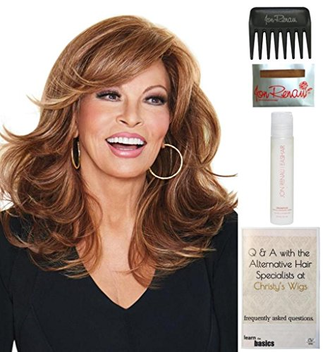Bundle - 5 items: Curve Appeal by Raquel Welch, 15 Page Christy's Wigs Q & A Booklet, 2oz Wig Shampoo, Wig Cap & Wide Tooth Comb COLOR: RL1012 by Raquel Welch & Christy's Wigs