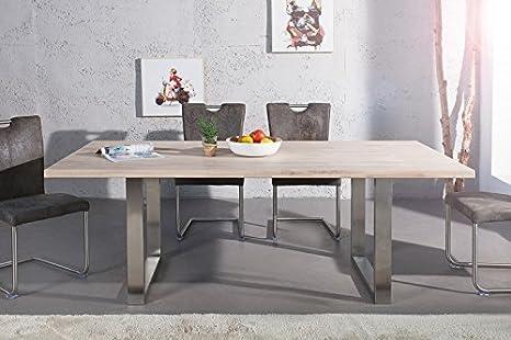 Tavolo da pranzo DANSK 200cm Rovere sbiancato: Amazon.it: Casa e cucina