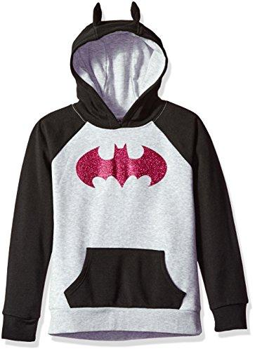 Warner Bros. Girls' Big Batgirl Cosplay Hoodie, Gray, L10/12