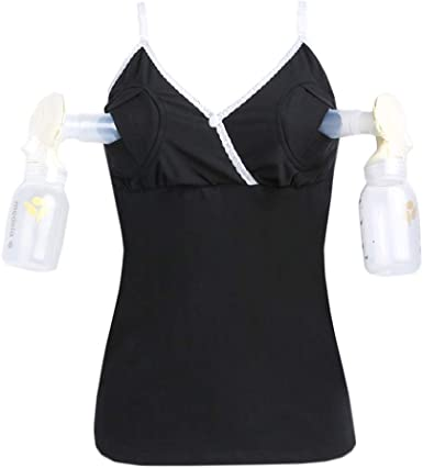 DianShaoA Mujer Sujetador Lactancia Maternidad Ropa Interior Sujetador Camiseta Tirantes Chaleco