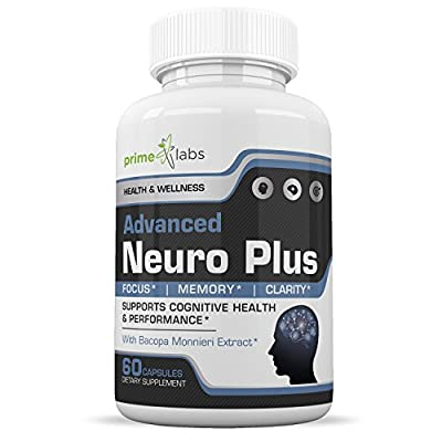 Advanced Brain Supplement Support Booster - Memory, Focus and Clarity Formula - Nootropic Pills for Performance, Mood and Anti Anxiety, Helps Reduce Stress and Relax - 60 Capsules