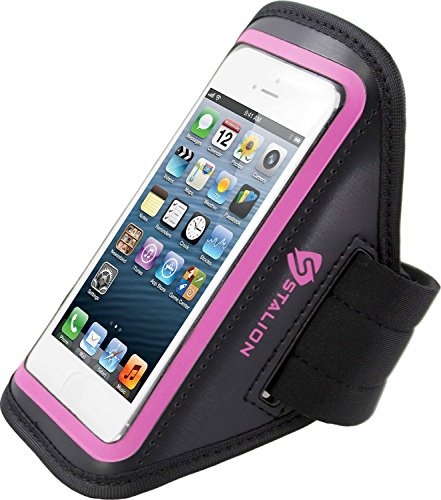 iPod Touch 4th Armband: Stalion Sports Running & Exercise Gym Sportband (Fuchsia) Water Resistant + Sweat Proof + Key Holder