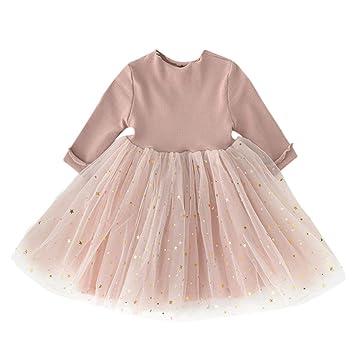 b7aa2b8b341 Robe Bébé Princesse - Sunenjoy Robe Manches Longues Princesse Robes de Fête  de Mariage Tricoté Tutu