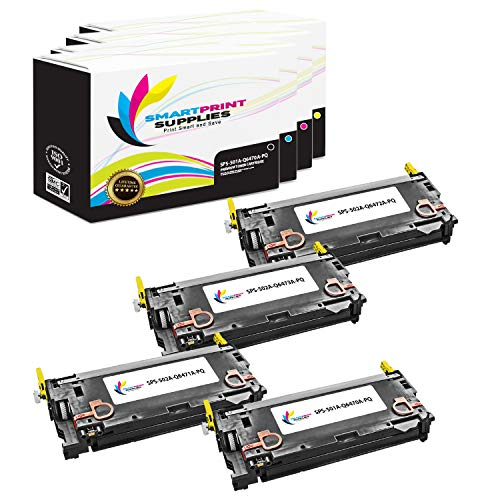 Smart Print Supplies Compatible 502A Q6470A Q6471A Q6472A Q6473A Premium Toner Cartridge Replacement for HP Laserjet 3600 3800 CP3505 Printers (Black, Cyan, Magenta, Yellow) - 4 Pack ()